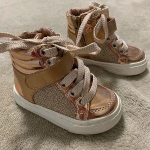 Gold Hightop sneakers